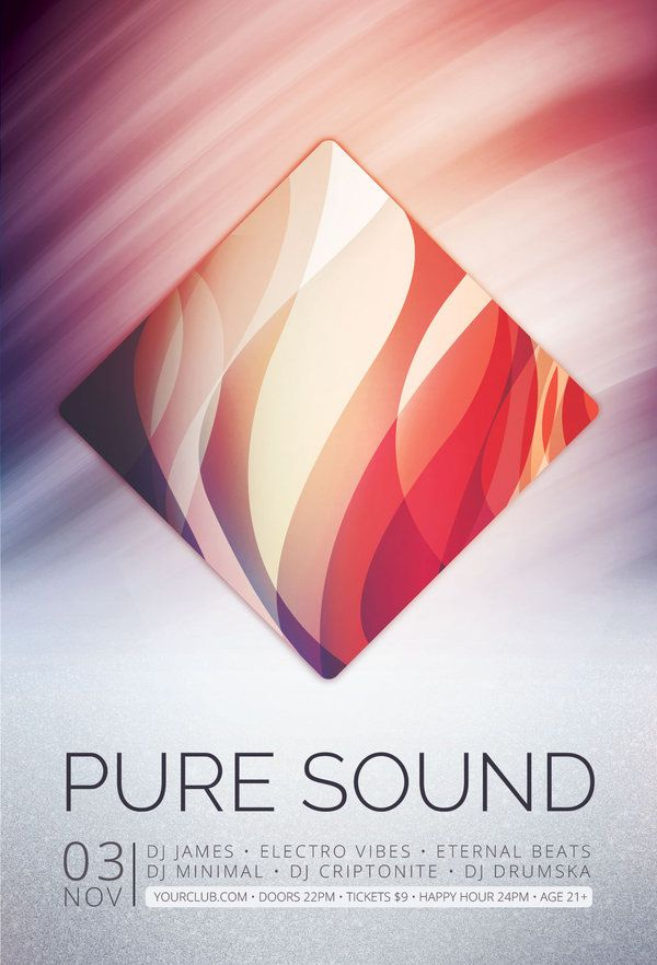 Pure Sound Flyer  Flyer Template Template And Design Layouts
