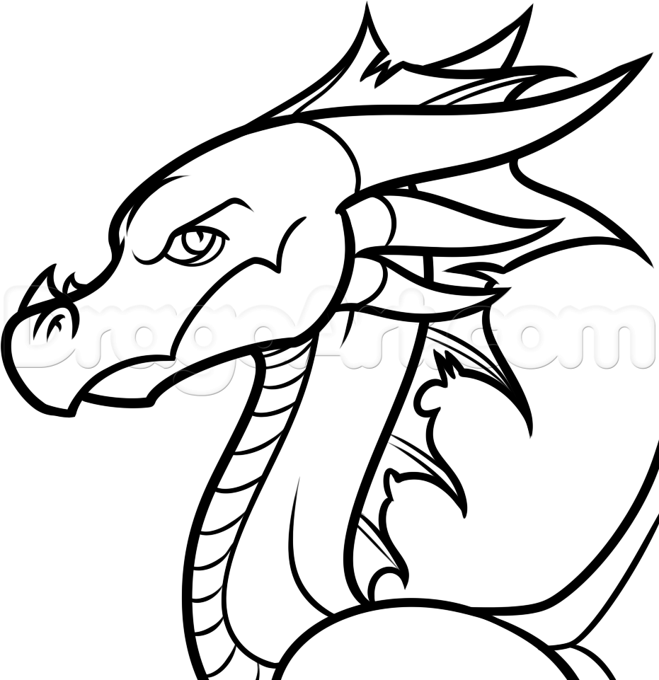 How to draw an easy cartoon dragon step 9