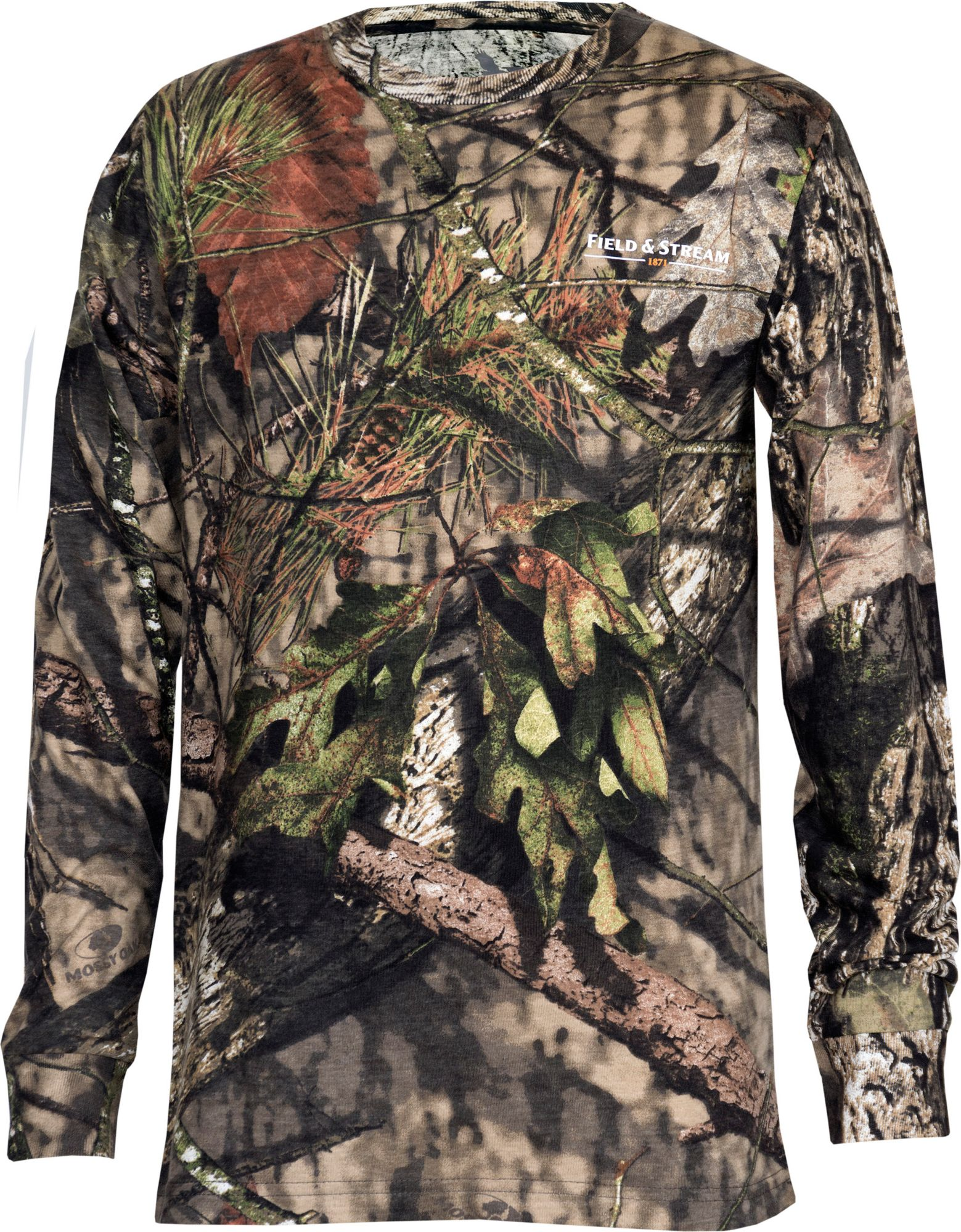 54dd9ebca67f5 Field & Stream Youth Long Sleeve Camo Shirt, Kids Unisex, Size: Large, Brown