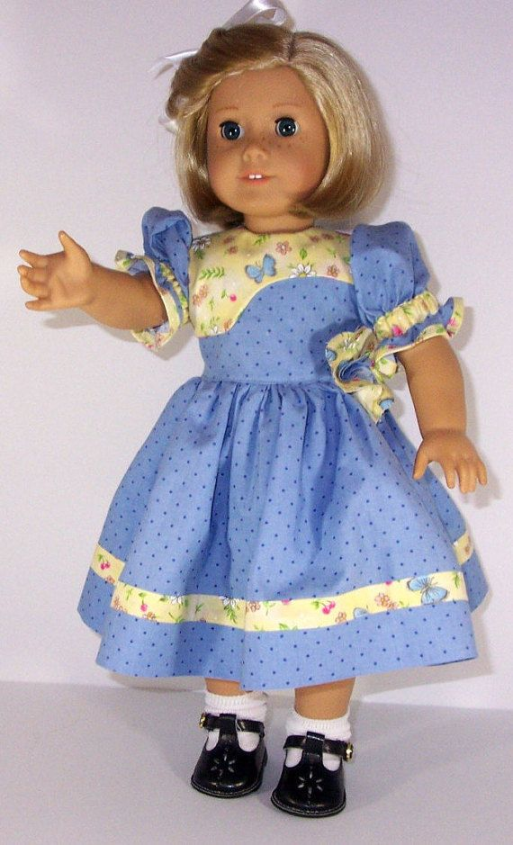 American Girl a yellow flowered dress skirt clothes 18/'/' doll accessories