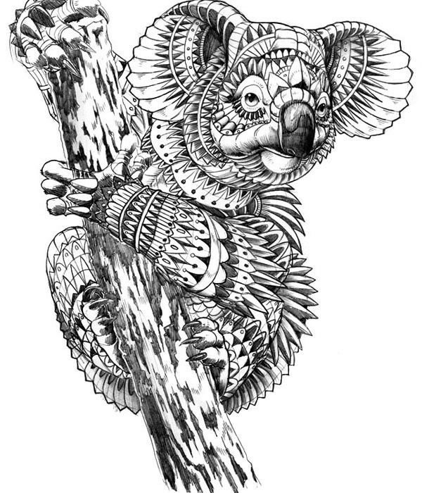 The 10 Best Ideas For Koala Coloring Pages For Adults Best Coloring Page Ideas And Inspiration Mandala Kleurplaten Dieren Tekenen Grillige Kunst
