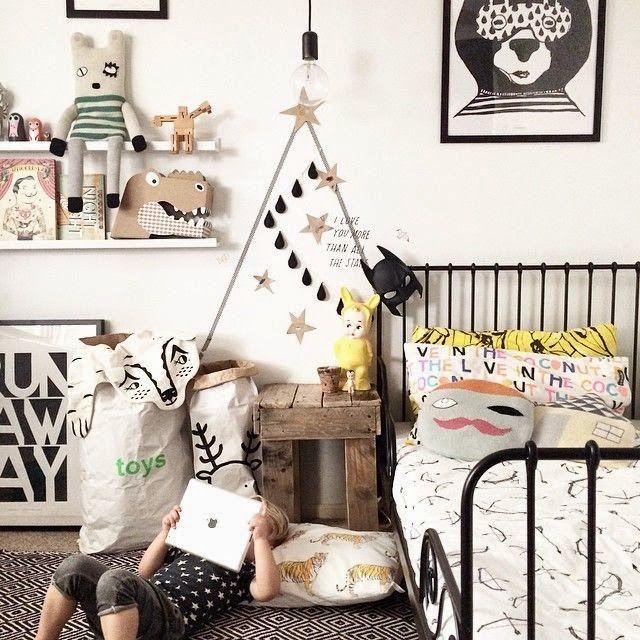 cool kid\u0027s room chambre enfant noire et blanche, jaune, black and