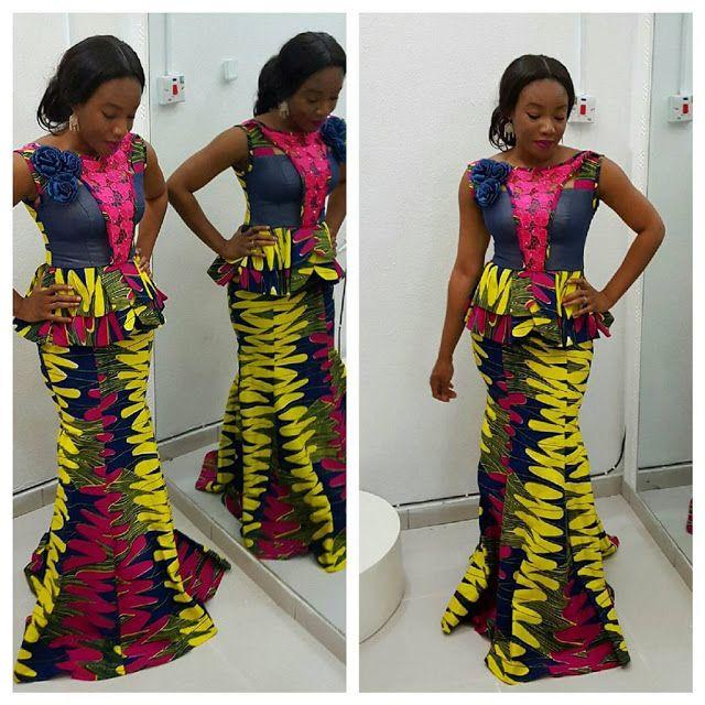 Lovely Ankara Skirt And Blouse Style