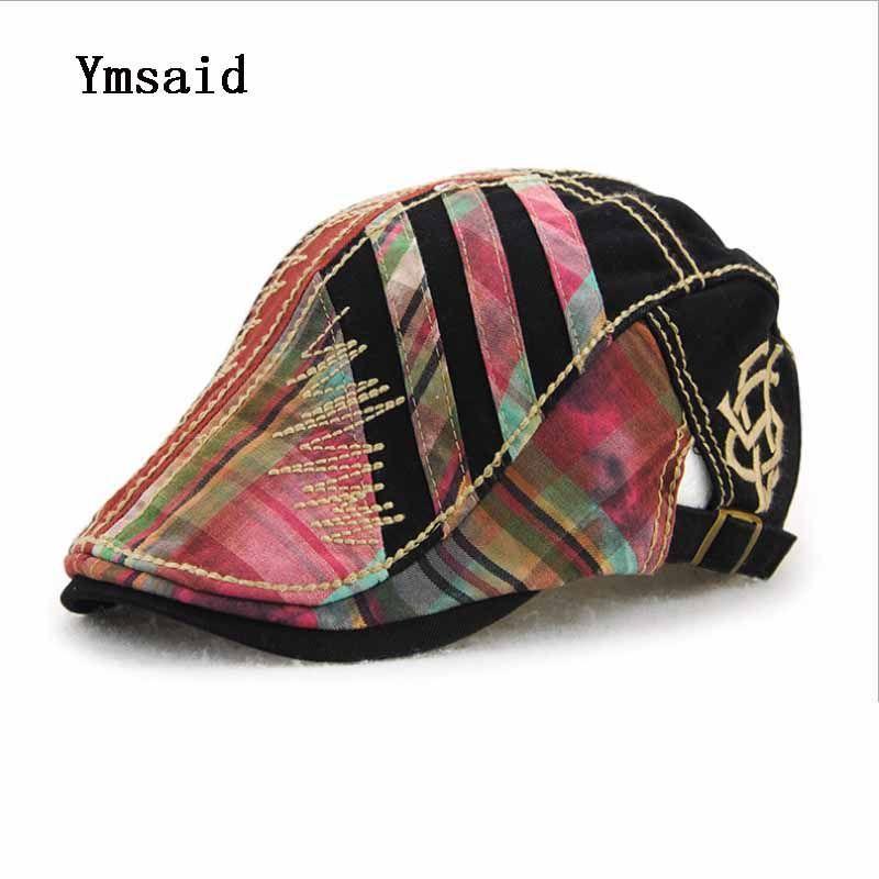 Patchwork Flowers Cloth Line Cap For Men Women Visors Sun Hat Gorras Planas Flat  Hats Berets a23f1142e6fe