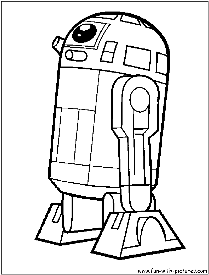 R2d2 From Starwars Star Wars Colors Lego Coloring Pages