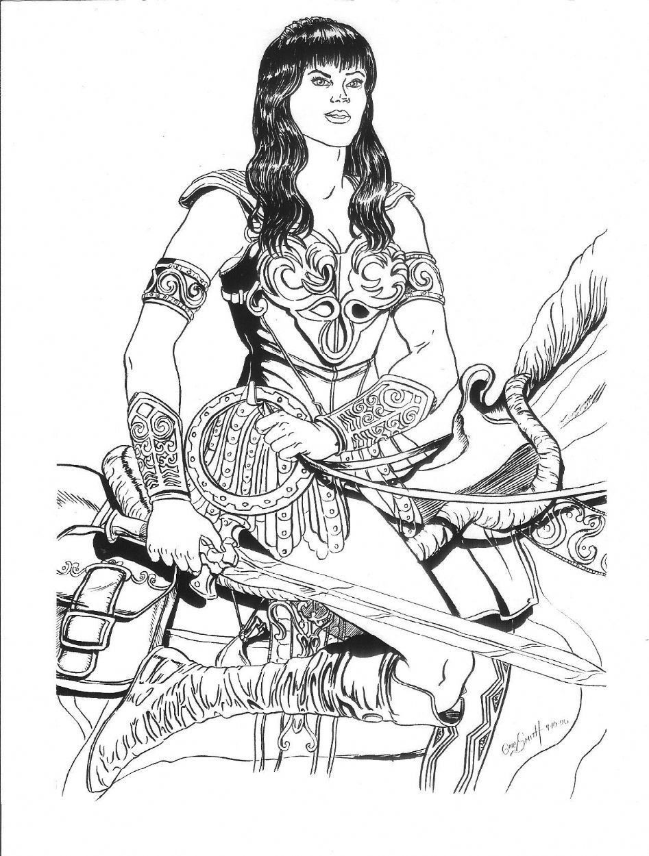 Xena Warrior Princess Coloring Pages From The Thousands Of Photos On The Net In Relation To Xena War Princess Coloring Pages Princess Coloring Coloring Pages