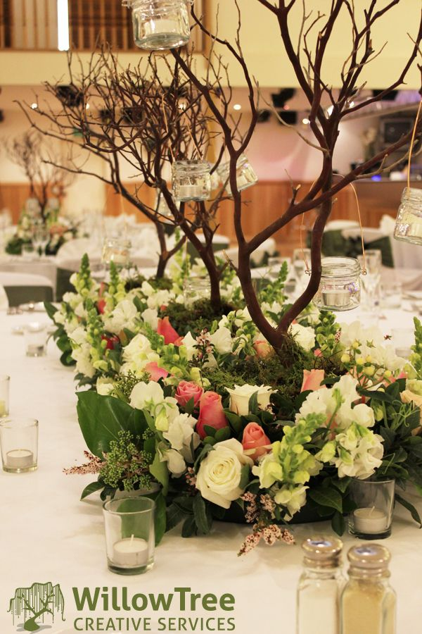 tree branch decorations wedding willow tree creative services woodlands themed wedding 8055