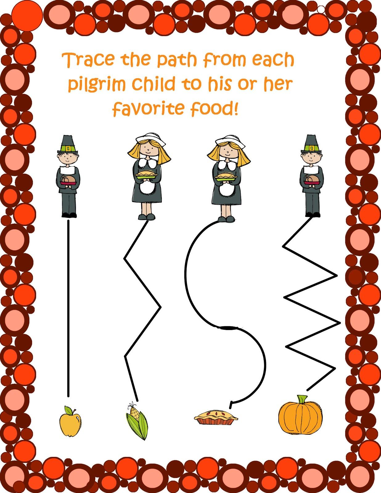 3 Day Freebie Thanksgiving Preschool Packet