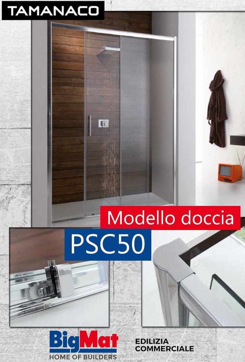 PSC50 by Tamanaco, porta scorrevole per box doccia a nicchia ...