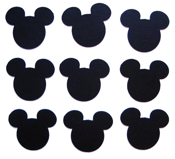 image about Mickey Mouse Printable Cutouts named 100 Black Mickey Mouse punch die minimize cutout through BelowBlink upon