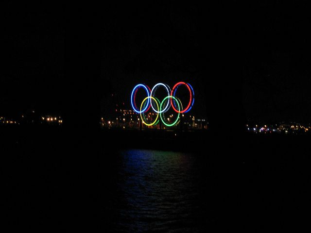 Olympic 2009, Vancouver, view from the dark Stanley park, Canada, photo by Negin Minaei