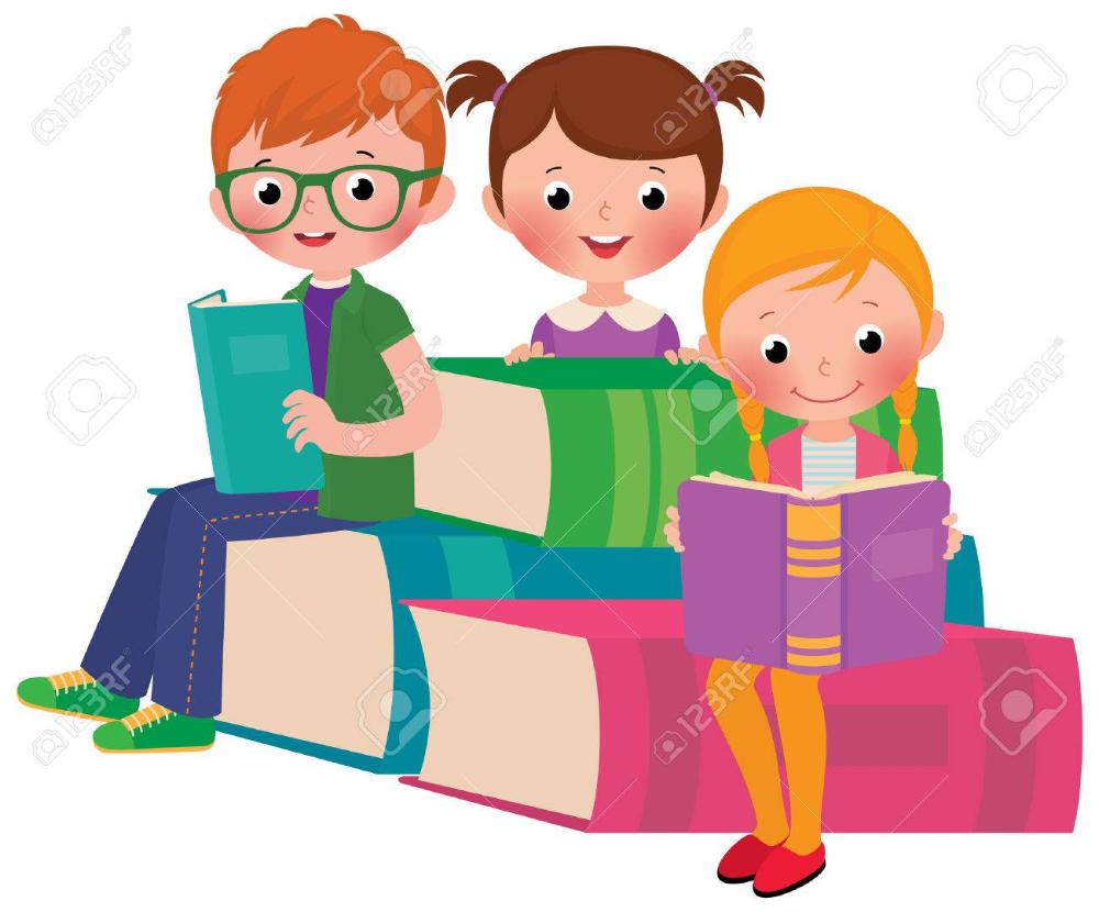 Stock Vector Ilustracion De Dibujos Animados De Un Grupo De Ninos Leyendo Un Libro Ninos Leyendo Ilustraciones De Dibujos Animados Libros Para Leer