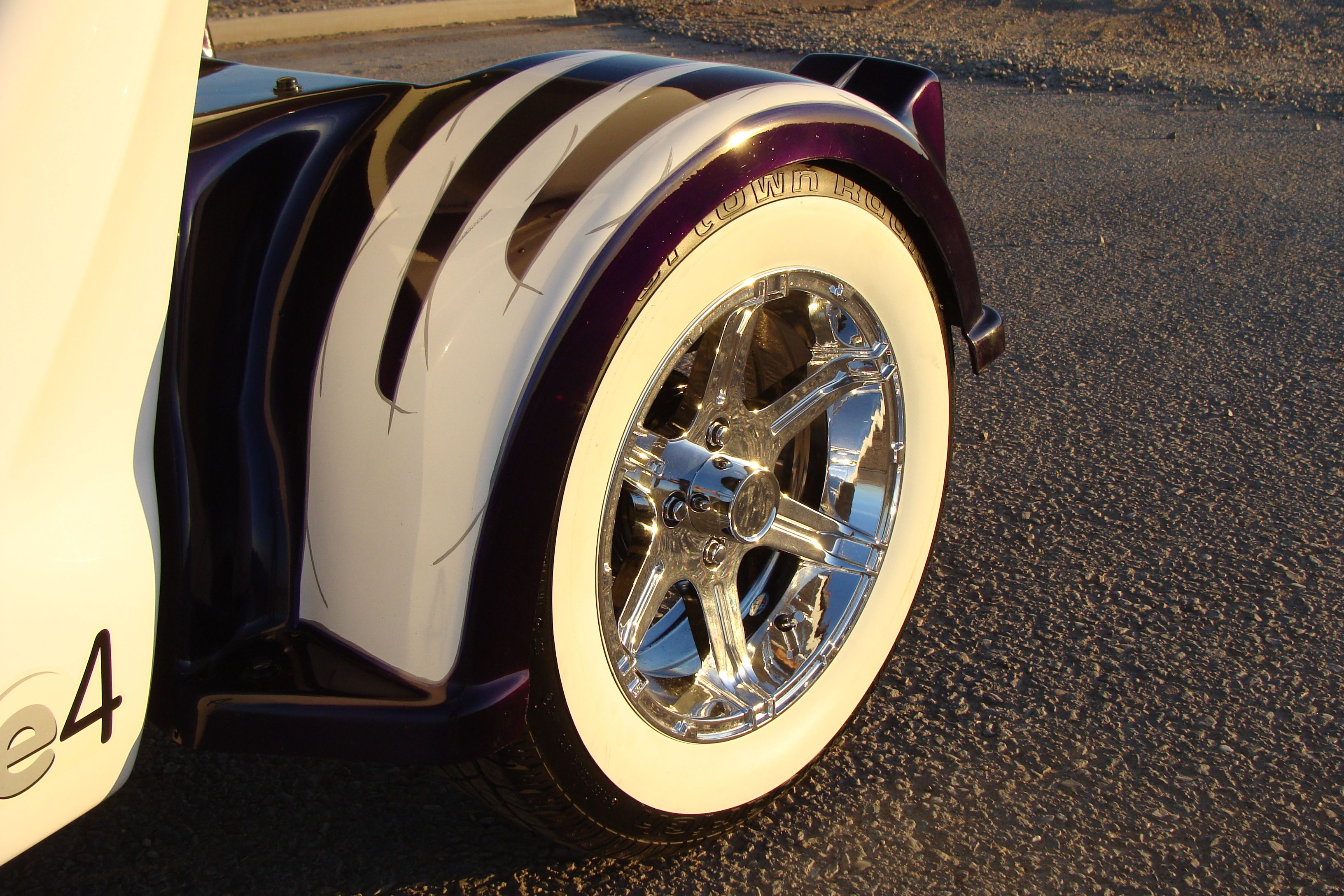 Chrome On White Wall Tires Gem Car Custom Wheels And Tires By