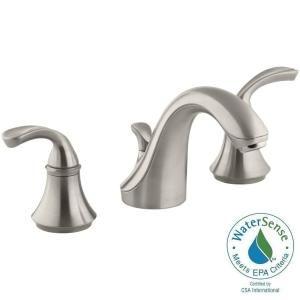 KOHLER Forte 8 in. Widespread 2-Handle Low-Arc Bathroom Faucet in ...