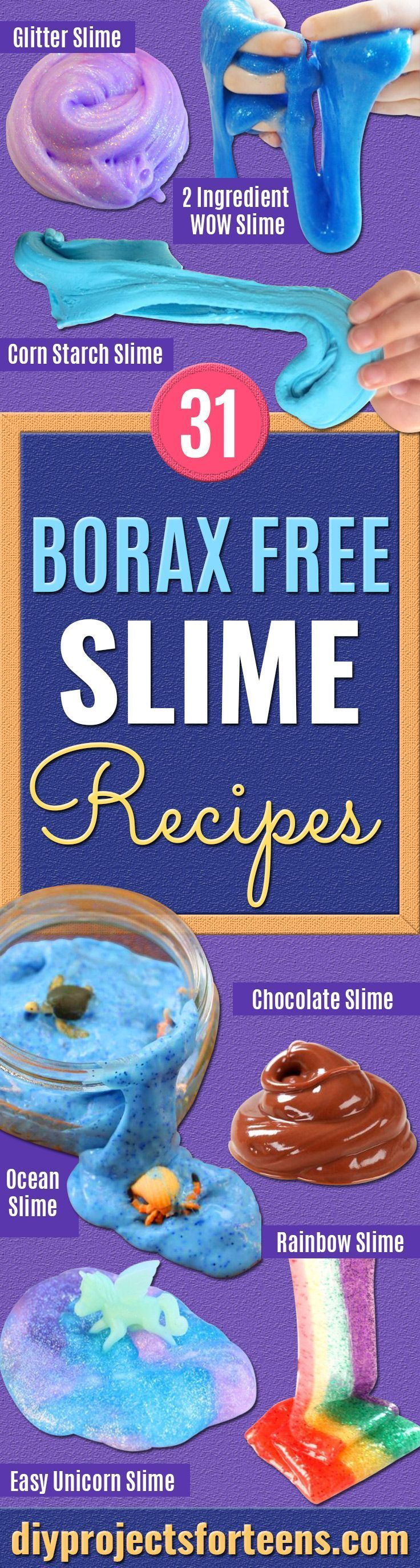 Photo of How to Make Slime Without Borax | 31 Recipes – DIY Projects for Teens – DIY Crafts
