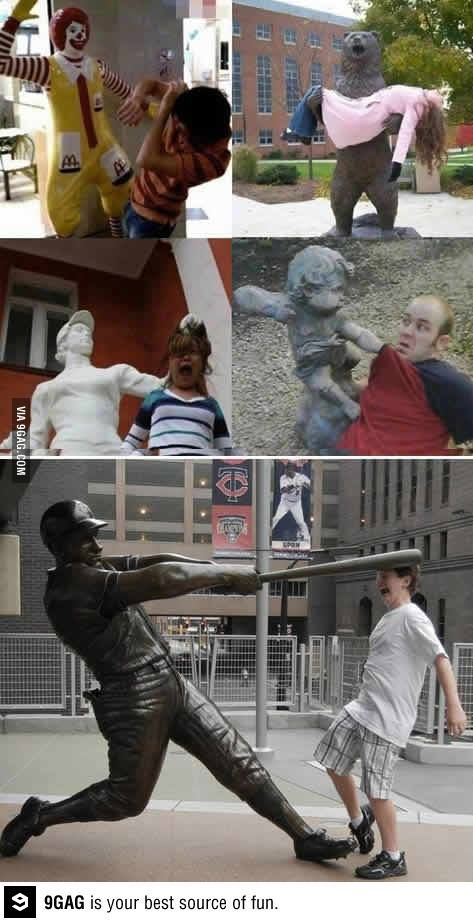 These statues