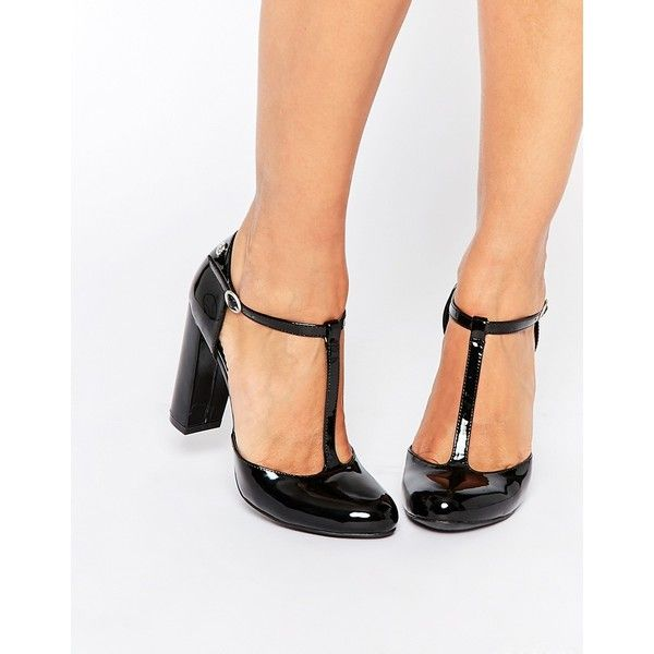 Blink Patent T Bar Black Heeled Shoes 260 Pen Liked On Polyvore