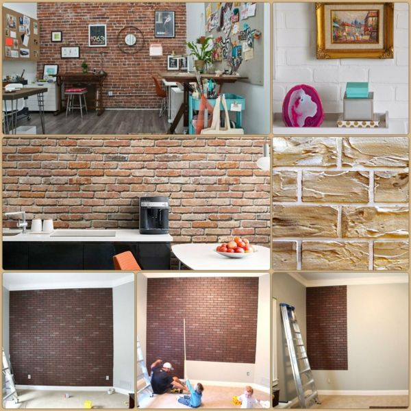 Superbe Wanddeko Selber Machen: Gefälschte Backsteinwand Als Rustikale Deko