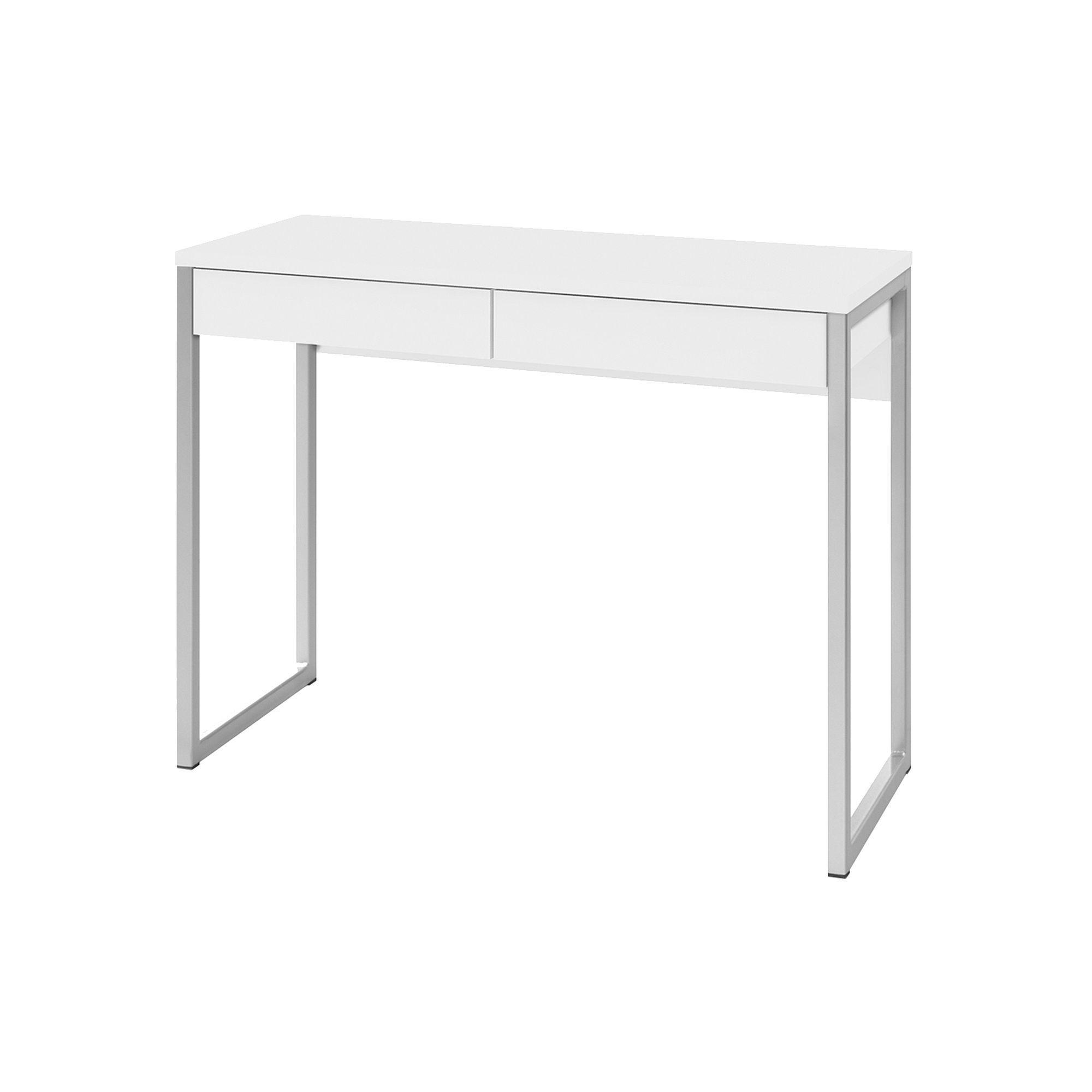 Tvilum Walker 2 Drawer Desk White Desk With Drawers Desk Metal Desks