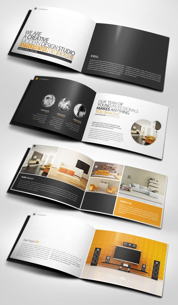 26 best and creative brochure design ideas for your inspiration 9 brochure design. Black Bedroom Furniture Sets. Home Design Ideas
