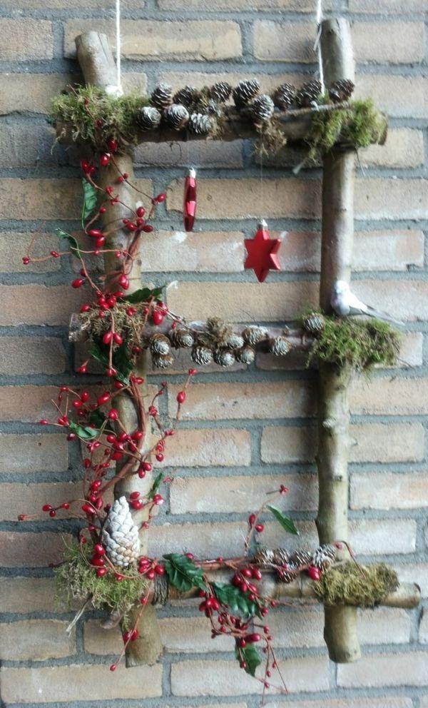 Kerst knutsel voor buiten by nannie #rustikaleweihnachten Kerst knutsel voor buiten by nannie #kerstpronkstukken