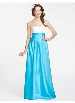 A-line Sweetheart Floor-length Satin Bridesmaid Dress With Ruching