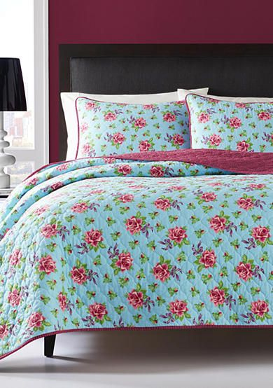 Betsey Johnson Bow Floral Quilt Set Belk Com Bedding And