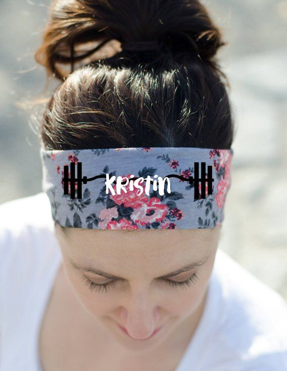 Personalized Fitness Headband - Custom Headband - Workout Headband - Exercise  Headband - Womens Work bc17157278e