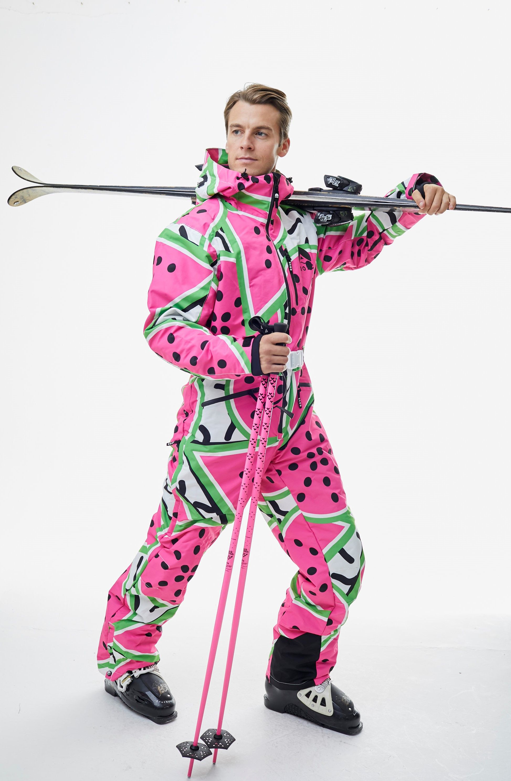 All In One Ski Suit Watermelon Oosc Clothing One Piece Clothes 90s Fashion Trending