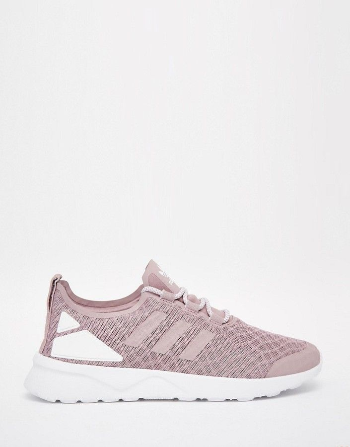 adidas Originals Purple ZX Flux Verve Mesh Sneakers