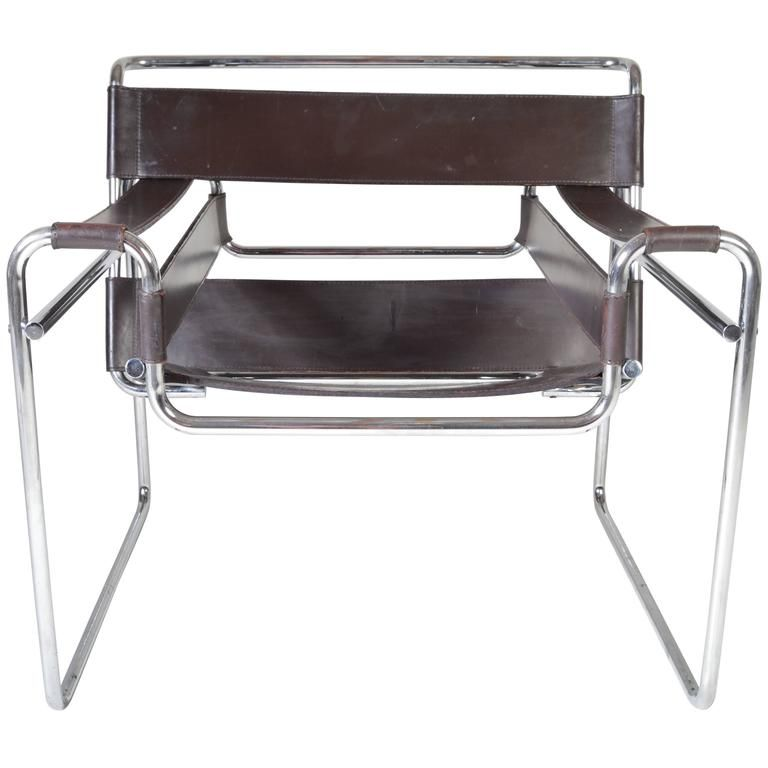 Vintage 1960s Wassily Chair By Marcel Breuer For Gavina Italy