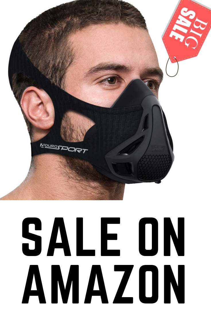 Aduro Sport Workout Training Mask for Running Biking