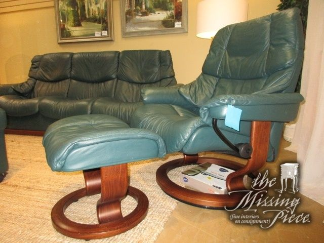 Enjoyable Ekornes Stressless Recliner Chair In A Deep Green Leather On Ocoug Best Dining Table And Chair Ideas Images Ocougorg
