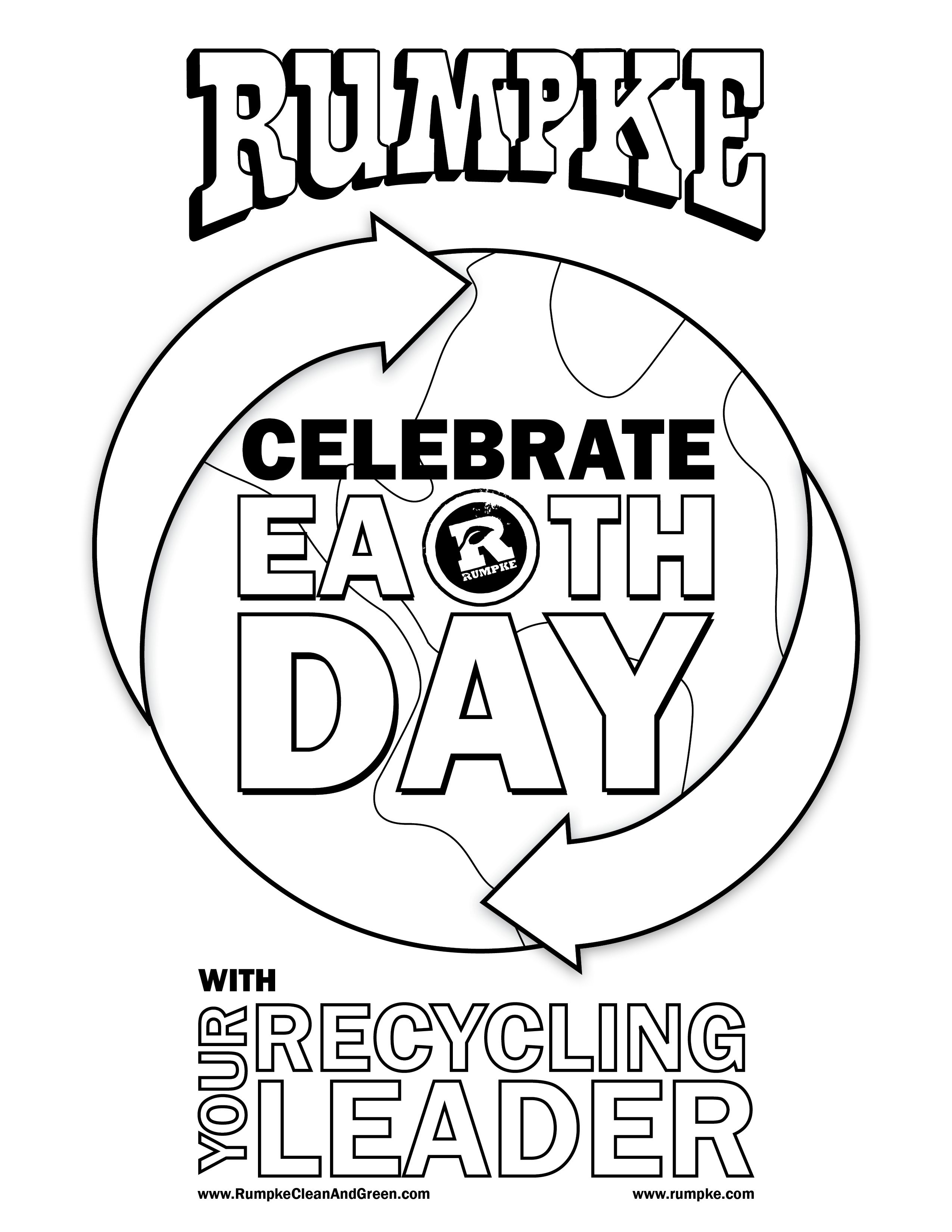 Earth Day Coloring Sheet 2015