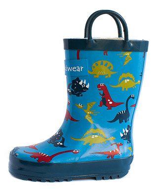 Kids Funky Dinosaur botas de agua A7s4aiL