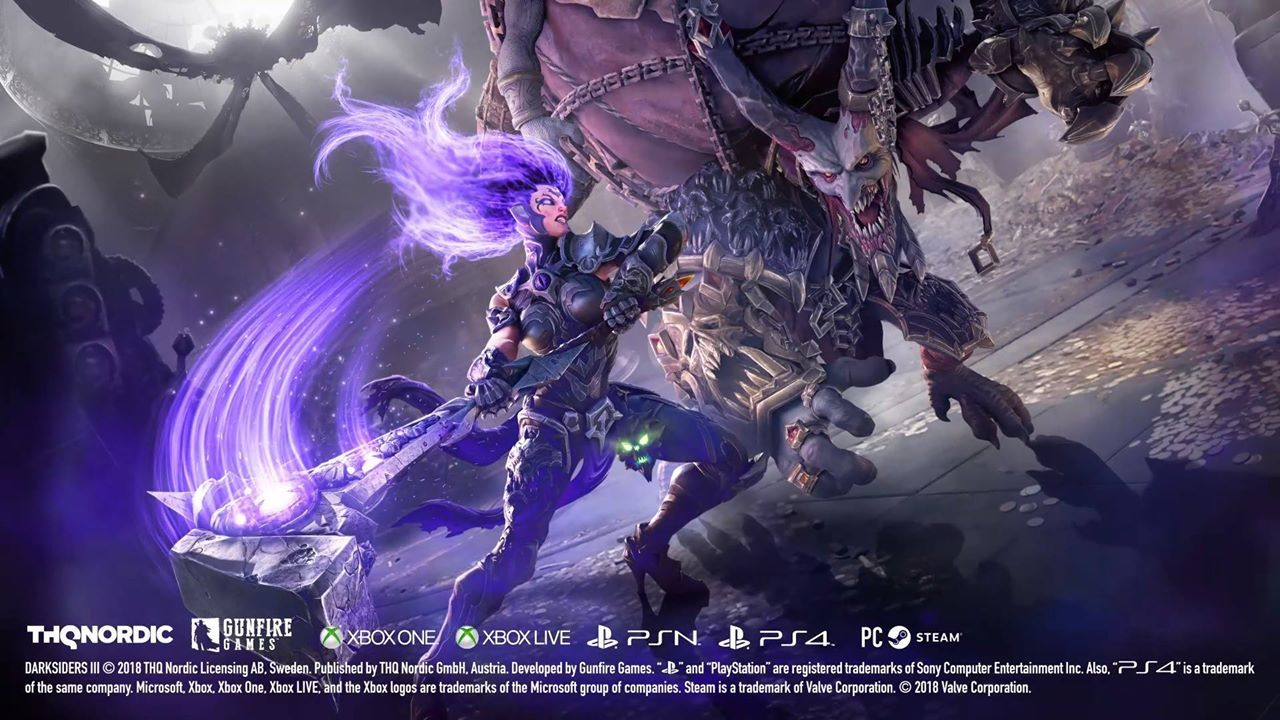 Darksiders 3 Gameplay Trailer Showcases The Force Of Fury Gaming Nioh Poster Ps4 Region English