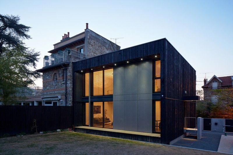 sou0027bois I france Cube 45 wooden kit house wood projet Pinterest