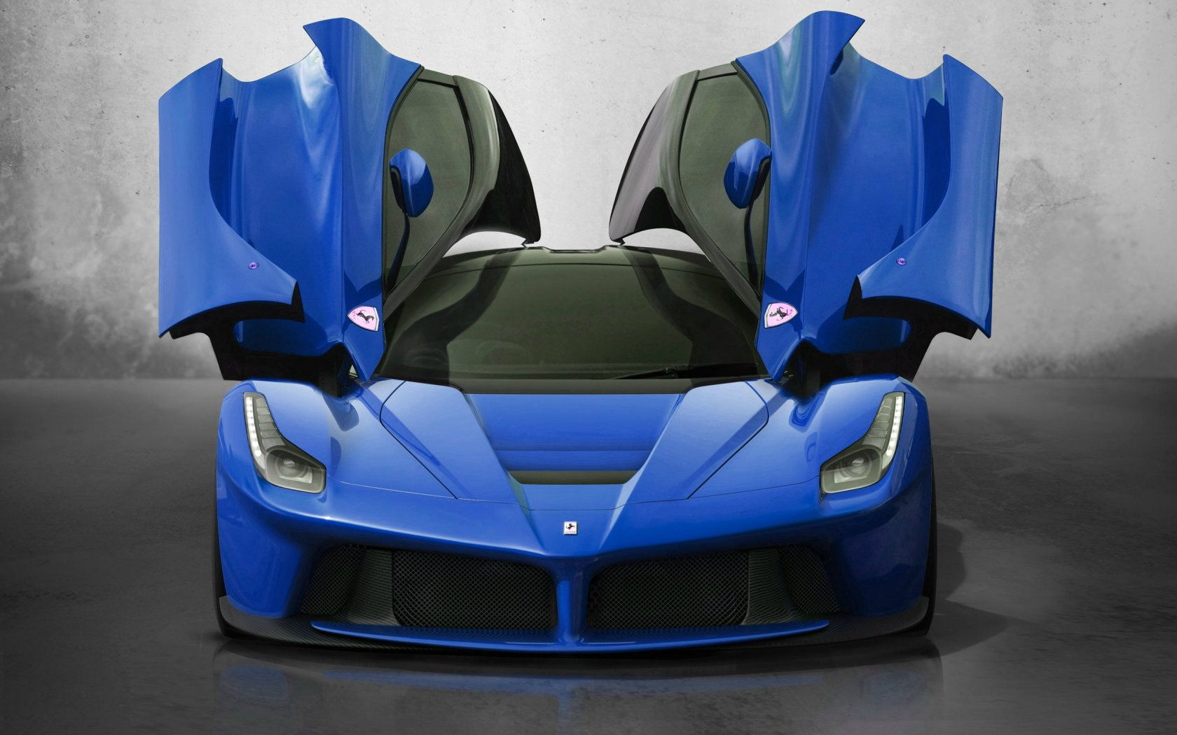 Ferrari Laferrari Blue Wallpaper Size 1680x1050 Amazingpict