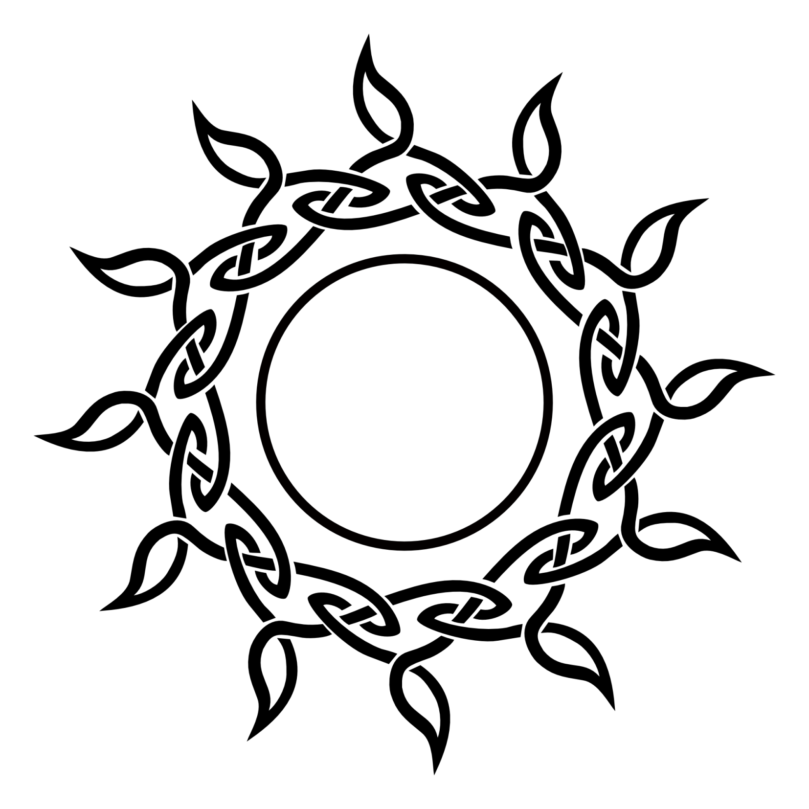 Celtic Sun Needs Something In The Middle Ink Pinterest