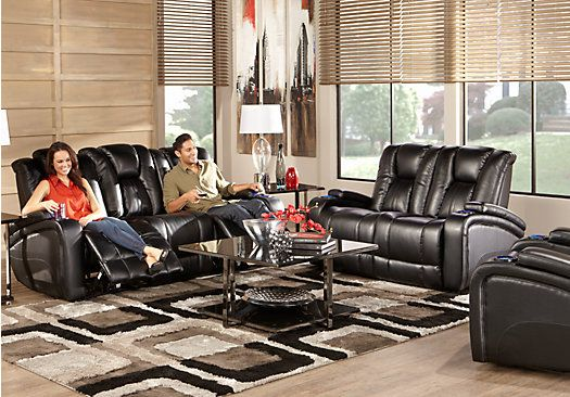 Kingvale Black 2 Pc Living Room With Power Reclining Sofa Jewelry