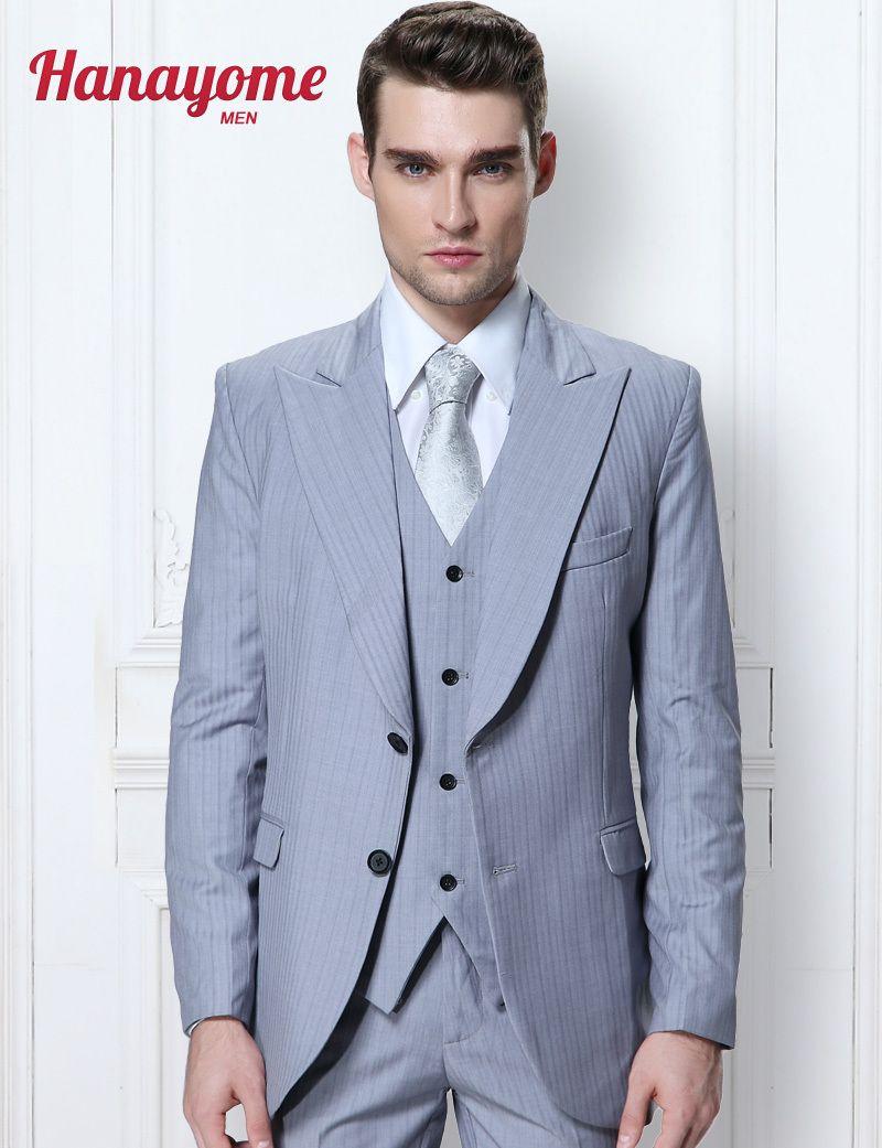 Click to Buy << Light Blue Suit Jacket Tuxedo Custom Made Suit ...