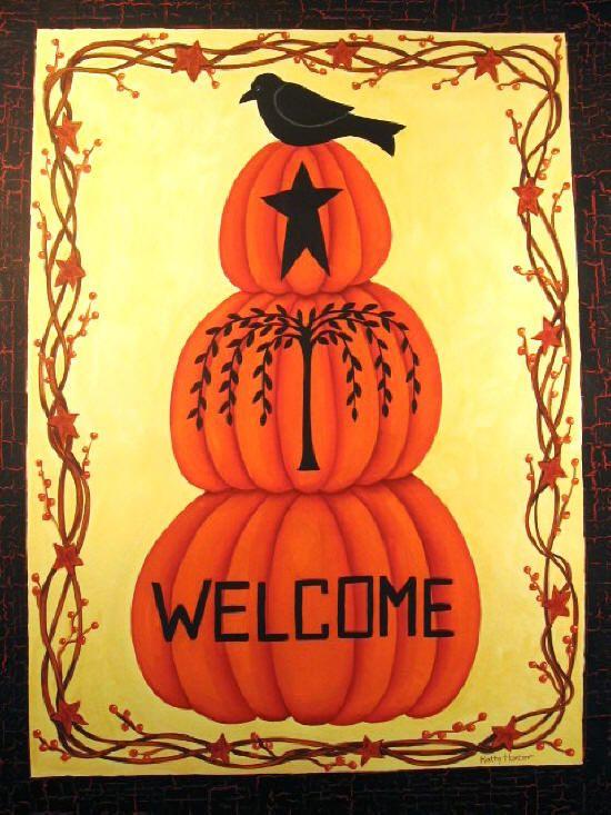 Kathy Hunter Folk Art Fall Folk Amp Primitive Halloween