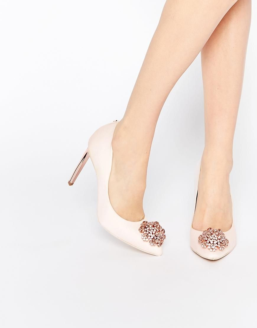 b641fb0023a1ca Ted Baker | Ted Baker Peetch Tie the Knot Bridal Embellished Leather Pumps  at ASOS