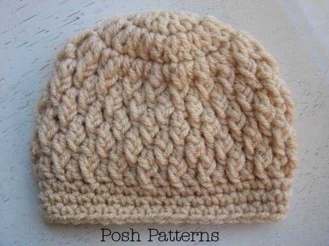 Crochet Hat Pattern Faux Cable Crochet Beanie Crochet Pattern ...