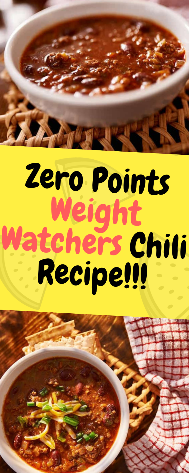 I'm so excited to share this Weight Watchers chili recipe. When I say that we eat this chili every single day, I'm not exaggerating. Ingredients Ground lean chicken or ground lean turkey – l lb (must be 99% free to... Continue Reading → #chilirecipe