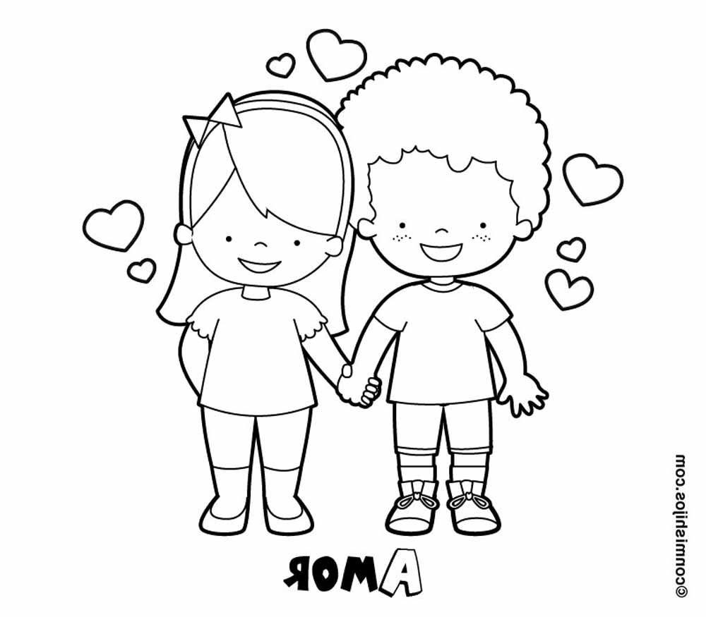 Novios enamorados para san valentin plntilla | Imagen para colorear ...