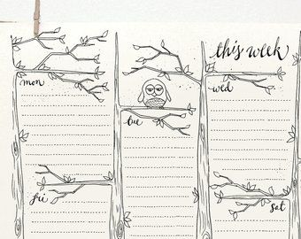 DOODLE Perpetual Weekly Planner: Cottages / Organizer
