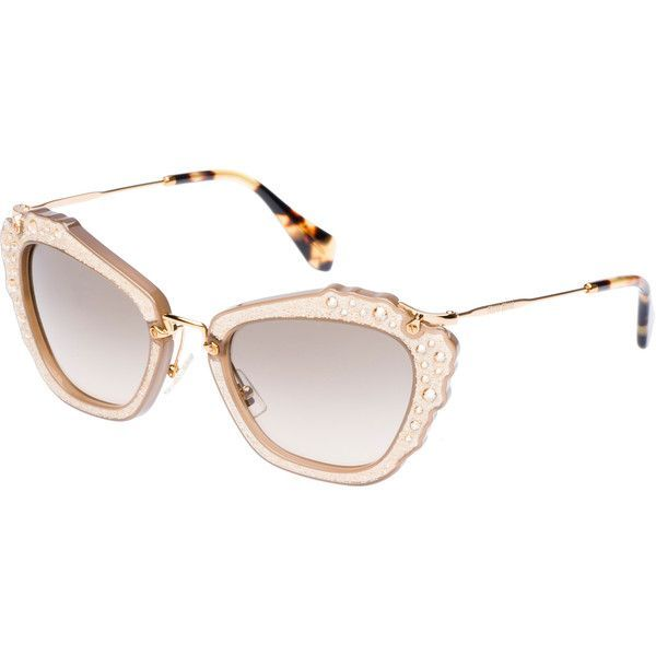 a51f662933e18f Miu Miu Sunglasses ( 520) ❤ liked on Polyvore featuring accessories ...