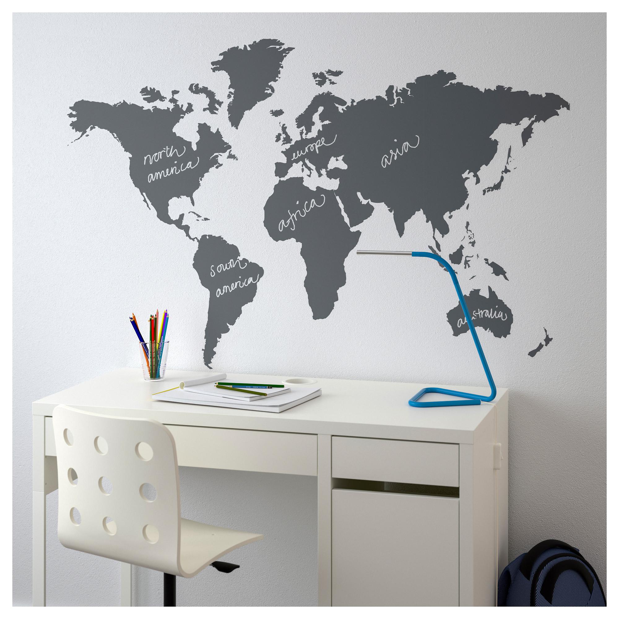 IKEA - KLÄTTA Decorative stickers chalkboard world in 2019 ... Ikea World Map Room on world map baby room, yuichi world map room, manga world map room, comic world map room, world map living room,