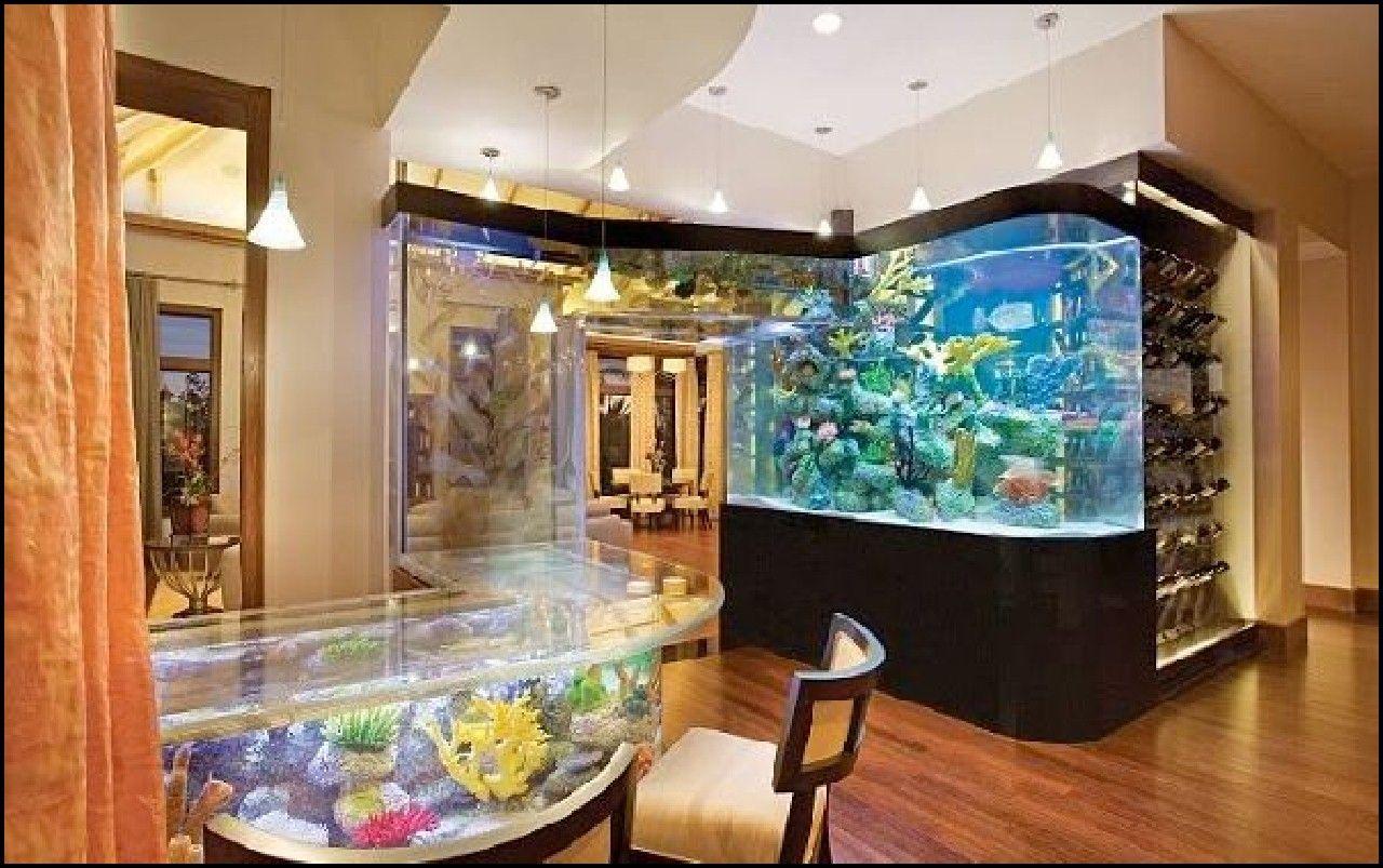 Living Room Aquarium Interior Design Part 59